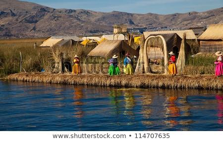 Peru göl dünya Stok fotoğraf © pxhidalgo