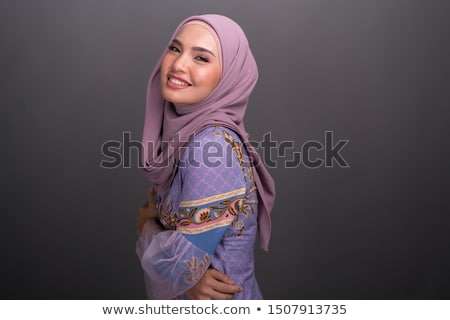 Portrait of an attractive girl with a scarf hijab Stock photo © pxhidalgo