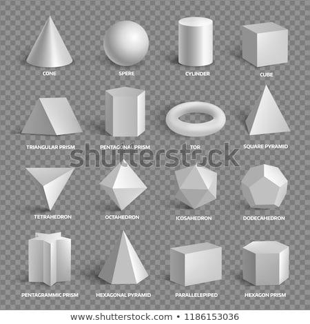Abstract 3D square circle vector  illustration Stock photo © bharat