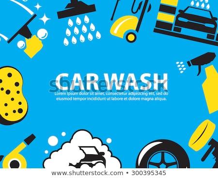 car · wash · cartoon · illustrazione · auto · macchina - foto d'archivio © mechanik