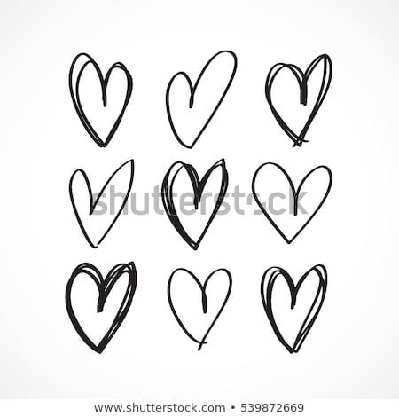 Icon of Heart in the Hand on  Digital Background. Stock photo © tashatuvango