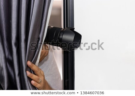 Man is hidding something in hands Stock photo © stevanovicigor