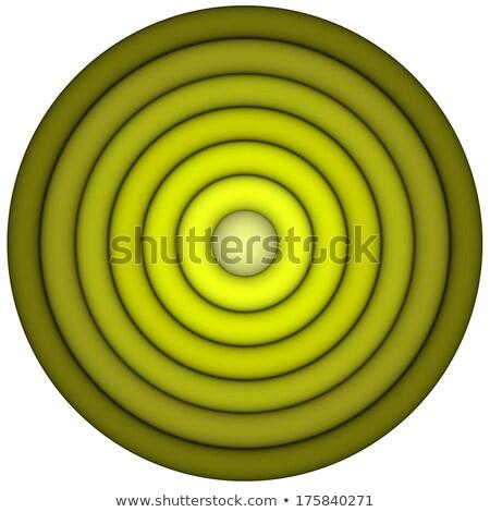 Rendu 3d concentrique tuyaux multiple vert jaune Photo stock © Melvin07