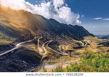 Transfagarasan pass from Fagaras mountains Stock photo © feedough