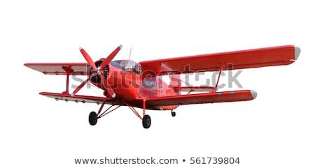 eski · uçak · kokpit · rus · arka · plan · mavi - stok fotoğraf © ewastudio