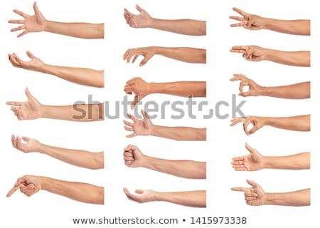 man hands showing hand in fist stock photo © dolgachov