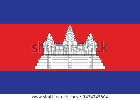 Camboja bandeira ícone isolado branco internet Foto stock © zeffss