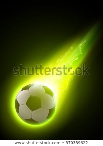 Soccer Ball with green and yellow details stock photo © Camel2000