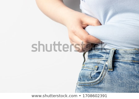 Vrouw torso jonge vrouw zwarte lingerie bed sexy Stockfoto © trexec