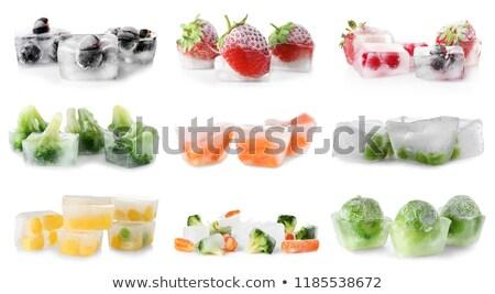 Stockfoto: Ice · Cube · geïsoleerd · witte · voedsel · natuur · ijs