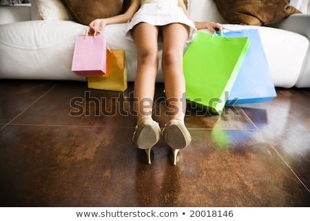 aantrekkelijk · meisje · vergadering · fontein · meisje · roze · jurk - stockfoto © sumners