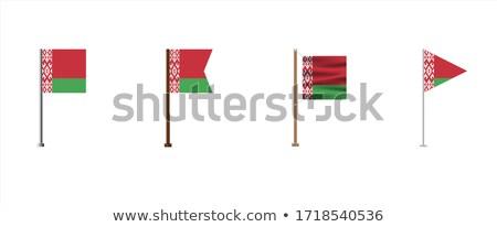 Беларусь небольшой флаг карта республика избирательный подход Сток-фото © tashatuvango