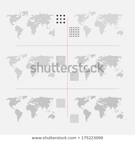 abstract dot world map vector set stock photo © beaubelle