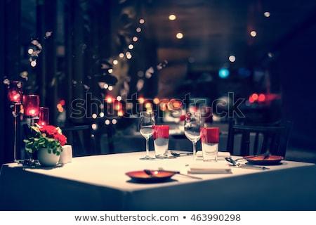 Romantik akşam yemeği restoran iç içinde parti Stok fotoğraf © Ainat
