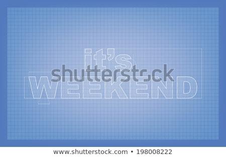 Fim de semana diagrama estilizado desenho texto papel Foto stock © maxmitzu