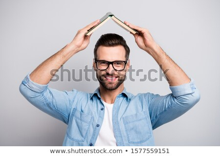 Stock photo: Under the book