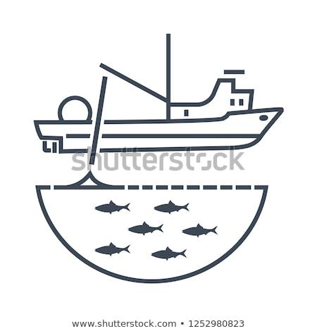 Fishing boat net controls stock photo © bobkeenan