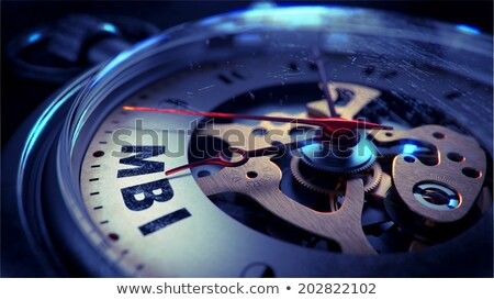 Foto stock: Mbi On Pocket Watch Face Time Concept