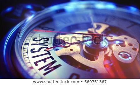 biztosítás · óra · arc · közelkép · kilátás · mechanizmus - stock fotó © tashatuvango