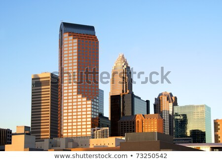 Stock photo: Charlotte, North Carolina, skyline in the afternoon sun.