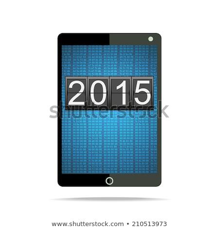 2015 общий отображения белый с Новым годом Сток-фото © stevanovicigor