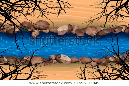 River water with yellow rocks Stock photo © emattil