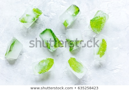 Mint ice cubes Stock photo © MKucova