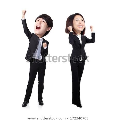 смешные · азиатских · большой · голову · человека - Сток-фото © elwynn
