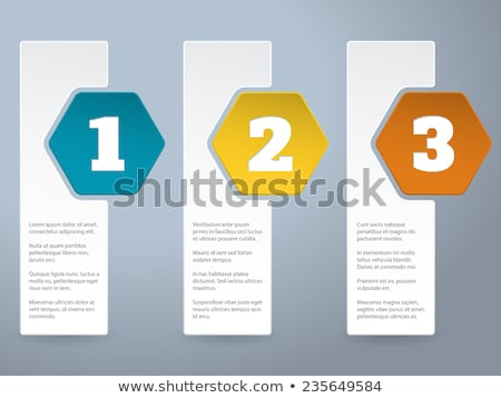 White label infograhic with big color hexagons Stock photo © vipervxw