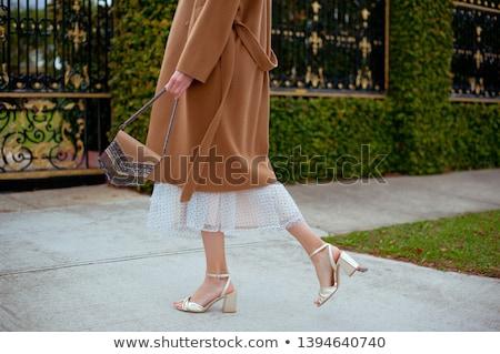 Maigre femme manteau visage Photo stock © majdansky