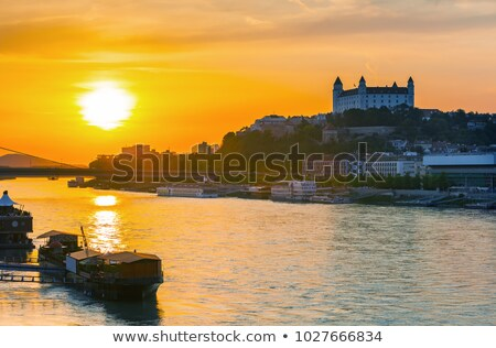 Bratislava Castle at Sunset stock photo © Kayco