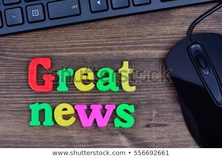 Una buena noticia ratón de la computadora Foto stock © devon