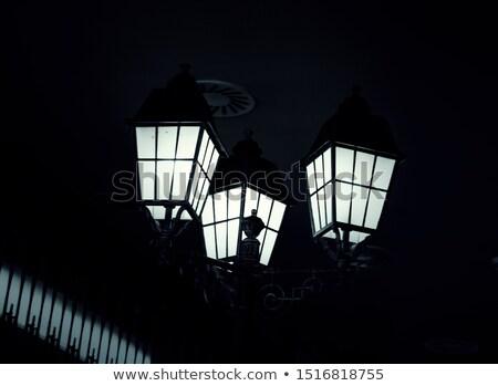 Clásico lámpara post foto noche Foto stock © ajn