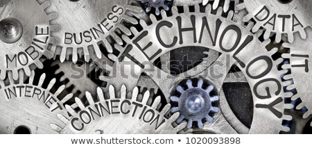 Marketing pesquisa metal engrenagens preto industrial Foto stock © tashatuvango