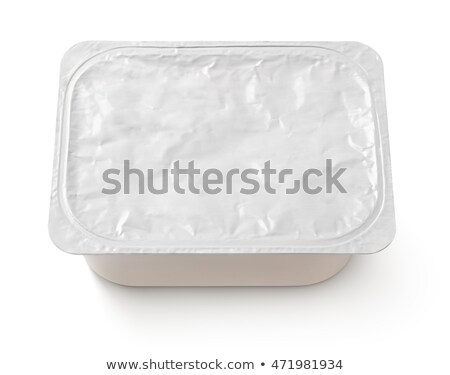 Plastic rectangular container for dairy foods Stock photo © ozaiachin