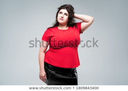 Femme gros seins blanche isolé espace de copie fille Photo stock © Nobilior