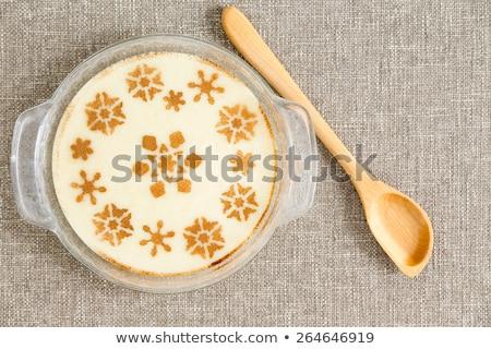Decorative milky semolina dessert Stock photo © ozgur