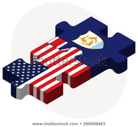 usa and anguilla flags in puzzle stock photo © istanbul2009
