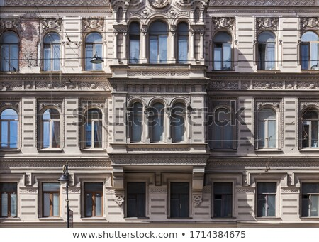 Bricked up windows in old building Stock photo © MichalLudwiczak