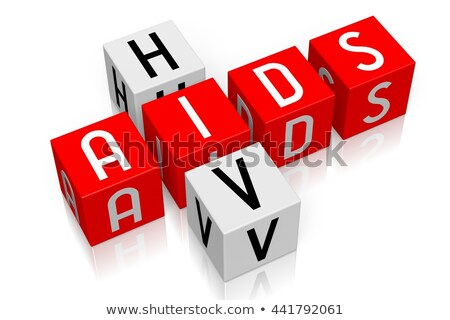 HIV - Text on Red Puzzles. Stock photo © tashatuvango