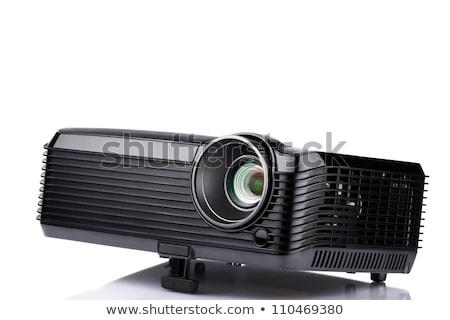 Multimédia projektor izolált oktatás képernyő videó Stock fotó © ozaiachin
