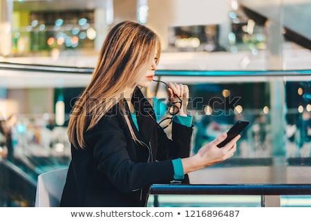 таинственный · деловой · женщины · привлекательный · маске · служба - Сток-фото © elwynn