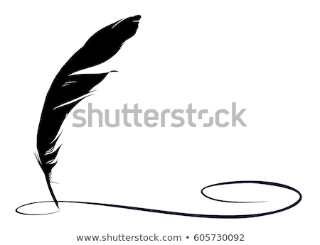 feather pen and ink Stock photo © neirfy
