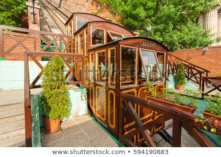 funicular to buda castle in budapest stock photo © fesus