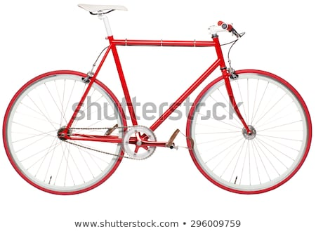 Stylish hipster bicycle - fixed gear isolated on white Stock photo © vlad_star