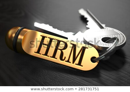 keys with word hrm on golden label stock photo © tashatuvango