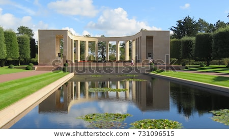 american military cemetery omaha beach normandy france stock photo © phbcz