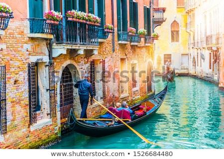 venice canals and gondola stock photo © blasbike