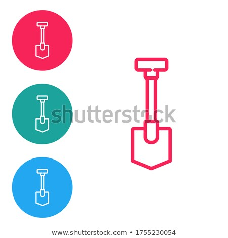 Stock photo: Construction Tools Red Vector Button Icon Design Set