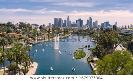 Los Angeles Cityscape Świt biuro budynku miasta Zdjęcia stock © AndreyKr